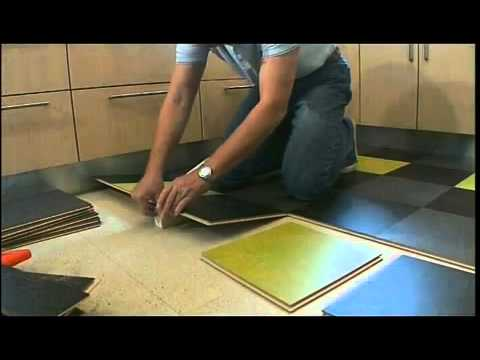 Colorful, Natural Marmoleum Click – DIY