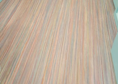 """Rainbow"" Marmoleum Northampton office bath"