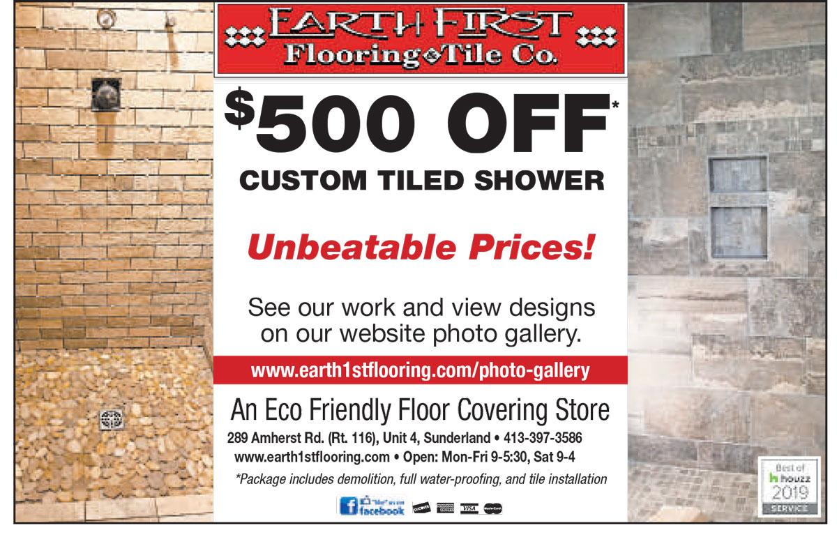 $500 off tiled shower special