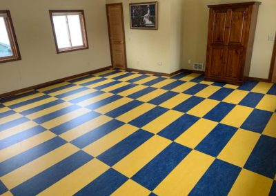 blue-yellow marmoleum